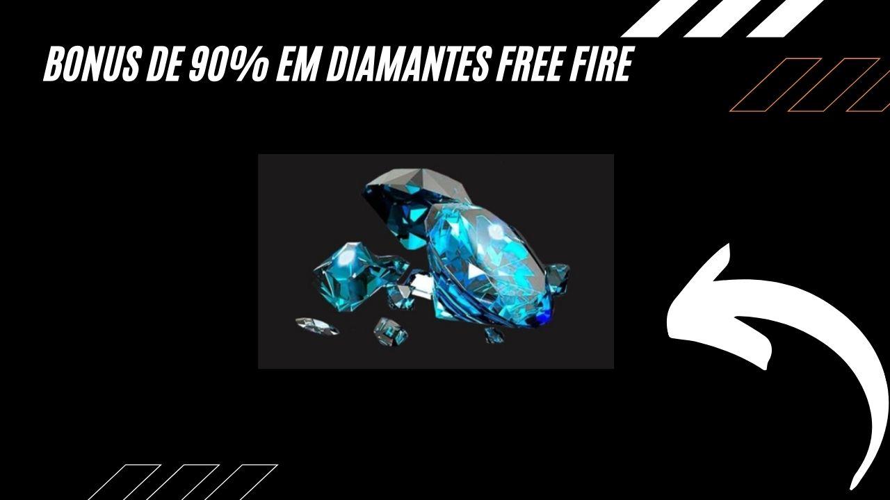 Bônus de 90% em Diamantes no Recarga Jogo Free Fire